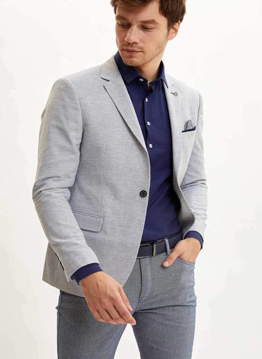 DeFacto Cepli Blazer Ceket Mavi